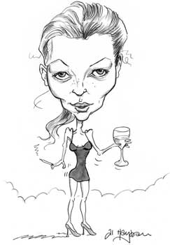 Kate Moss caricature