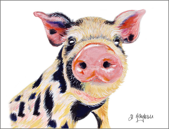 Hamlet the pig, Pig painting,
