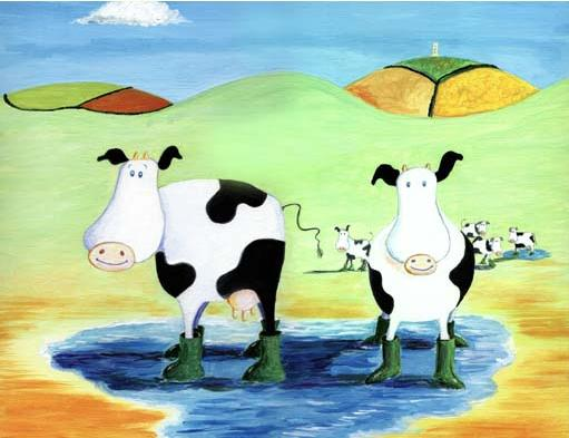 'glastonbury cows' by al hayball