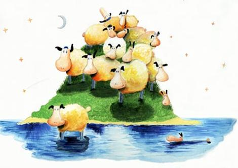 'a heap of sheep' by al hayball